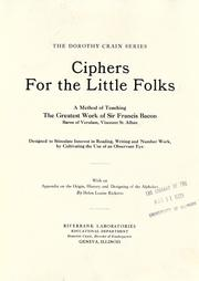 Cover of: Ciphers for the little folks