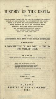 Cover of: The history of the Devil