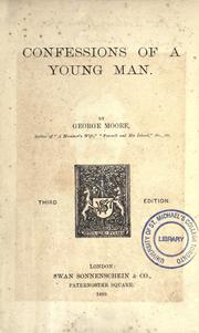 Cover of: Confessions of a young man