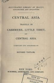 Cover of: Central Asia: Travels in Cashmere, Little Thibet and Central Asia.
