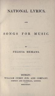 Cover of: National lyrics: and songs for music