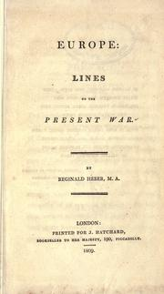 Cover of: Europe: lines on the present war.