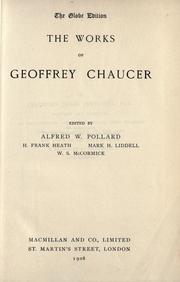 Cover of: The works of Geoffrey Chaucer