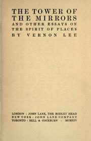 Cover of: The tower of the mirrors