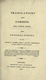 Cover of: Translations from Camoens