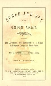 Cover of: Nurse and spy in the Union Army
