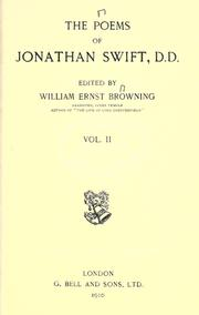 Cover of: The poems of Jonathan Swift