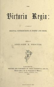 Cover of: The Victoria Regia