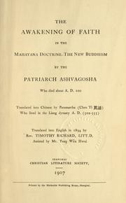 Cover of: The awakening of faith in the Mahayana doctrine