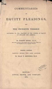 Cover of: Commentaries on equity pleadings