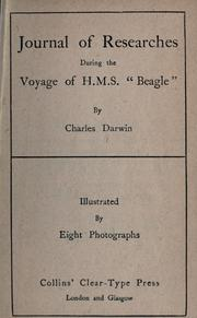 "Cover of: Journal of Researches during the Voyage of H.M.S. ""Beagle"""