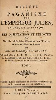 Cover of: Defense du paganisme