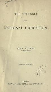 Cover of: The struggle for national education