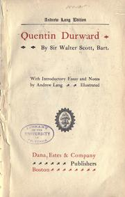 Cover of: Quentin Durward