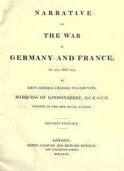 Cover of: Narrative of the war in Germany and France, in 1813 and 1814