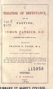 Cover of: A treatise of repentance and of fasting