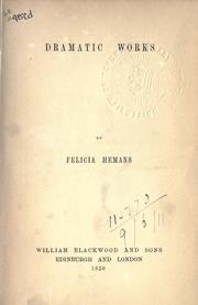 Cover of: Dramatic works