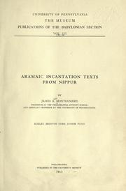 Cover of: Aramaic incantation texts from Nippur