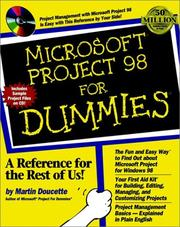 Cover of: Microsoft Project 98 for dummies