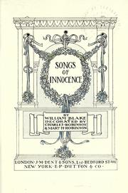 Cover of: Songs of Innocence