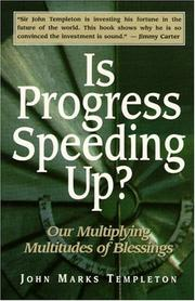 Cover of: Is progress speeding up?