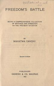 Cover of: Freedom's Battle: being a comprehensive collection of writings and speeches on the present situation