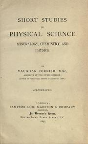 Cover of: Short studies in physical science