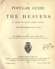 Cover of: A popular guide to the heavens