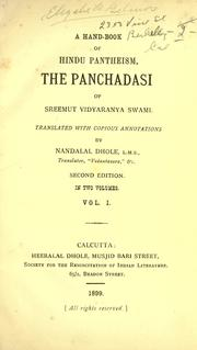 Cover of: A hand-book of Hindu pantheism