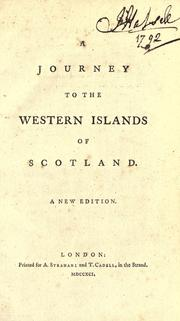 Cover of: A Journey to the Western Islands of Scotland