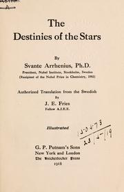 Cover of: The destinies of the stars