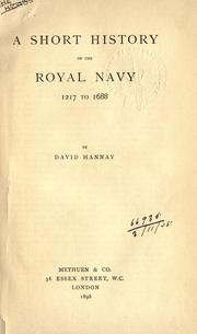 Cover of: A short history of the Royal Navy