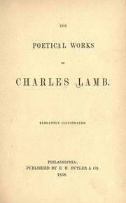 Cover of: The poetical works of Charles Lamb