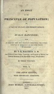 Cover of: Essay on the principle of population