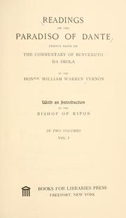 Cover of: Readings on the Paradiso of Dante