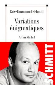 Cover of: Variations énigmatiques