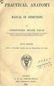 Cover of: Practical anatomy: a manual of dissections.