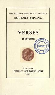 Cover of: Verses 1889-1896