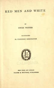 Cover of: Red men and white