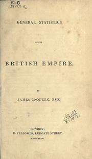 Cover of: General statistics of the British Empire