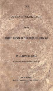 Cover of: The queen's necklace
