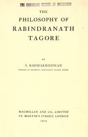 Cover of: The philosophy of Rabindranath Tagore