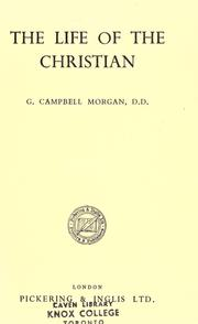 Cover of: The life of the Christian