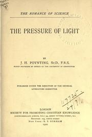 Cover of: The pressure of light