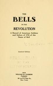 Cover of: The bells in the revolution