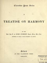 Cover of: A treatise on harmony