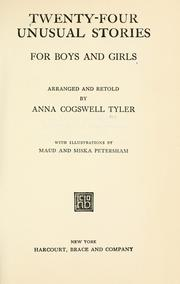 Cover of: Twenty-four unusual stories for boys and girls