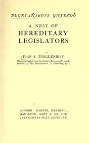 Cover of: A nest of hereditary legislators