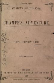 Cover of: Champe's adventure