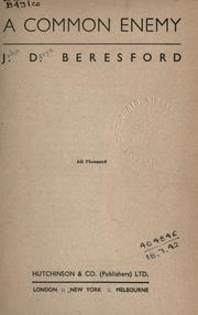 Cover of: A common enemy